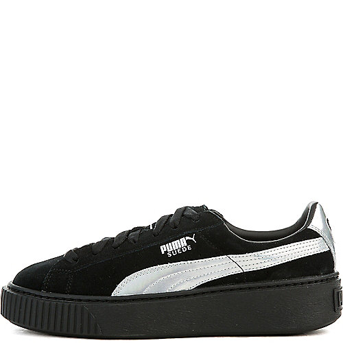 Suede Platform Rugged Sneaker in Black. - size 10 (also in 9.5) Puma Clearance Official NUC7cDu8