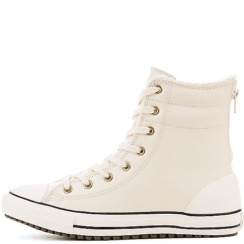 7fc0f10126eb80 Converse Cream Black Junior s Chuck Taylor All Star Hi-Rise Athletic  Lifestyle Sneaker
