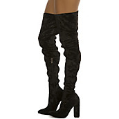 Buy Women&39s Thigh High Boots | Leather High Heel Boots at Shiekh Shoes