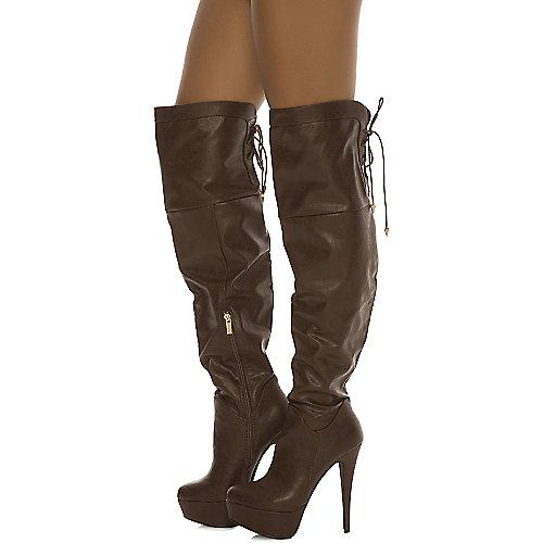 c4809b7127 Dollhouse Brown Women s Knee-High Boot Jasmin