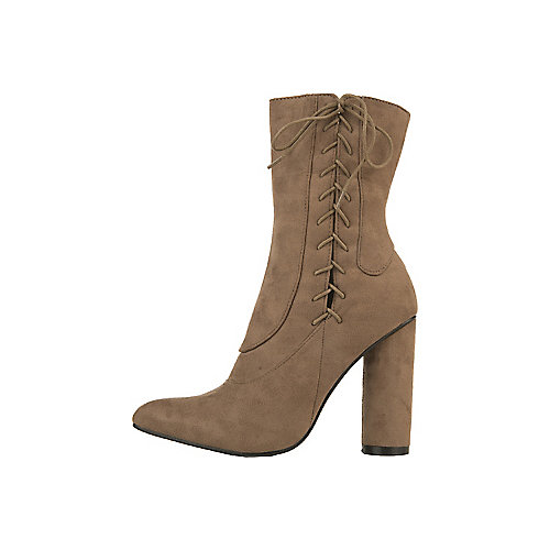 3d26dec910e Khaki Women s Paw-30 High Heel Mid-Calf Boot