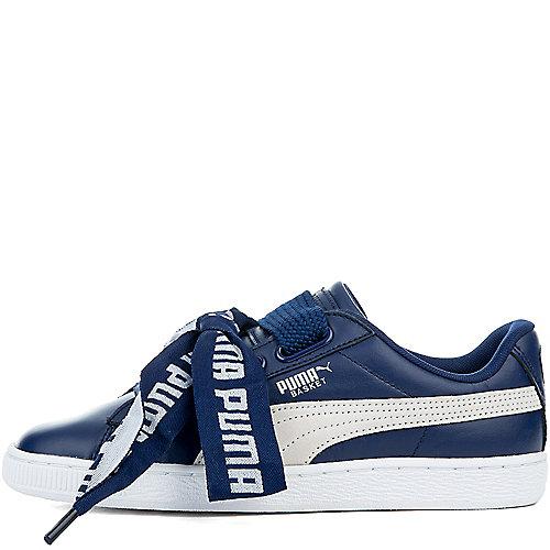 BLUE DEPTHS PUMA WHITE Women s Basket Heart De Sneakers 5a352e710