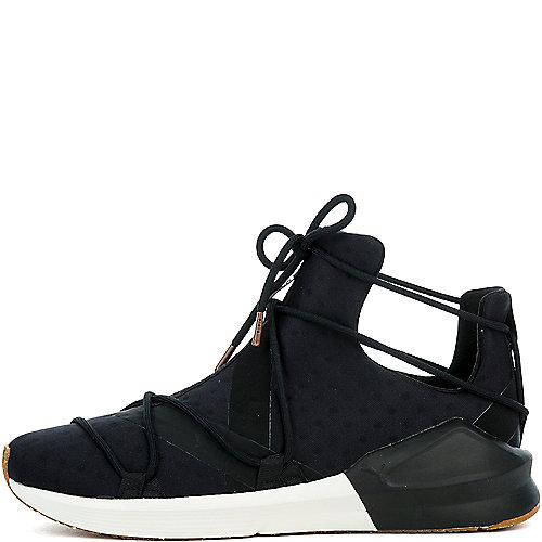 98e99bbce23827 PUMA BLACK WHISPER WHITE Women s Fierce Rope VR Sneaker