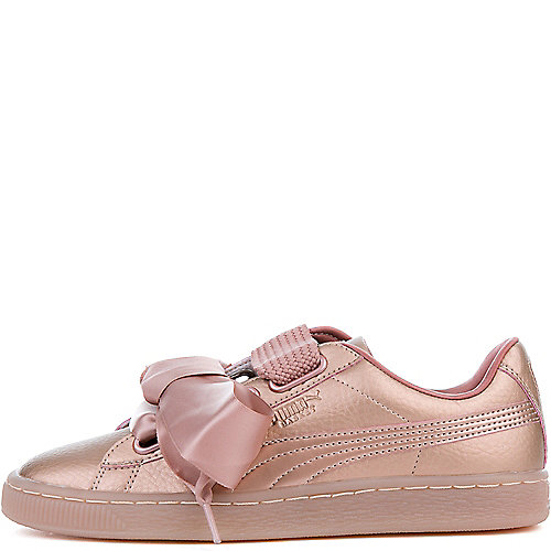 Puma COPPER ROSE Women s Basket Heart Copper Sneaker a7849082af