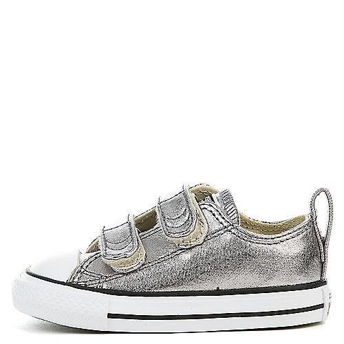 879b9fdb528b Converse metallic gunmetal white black Infant CTAS 2V Metallic Canvas  Sneaker