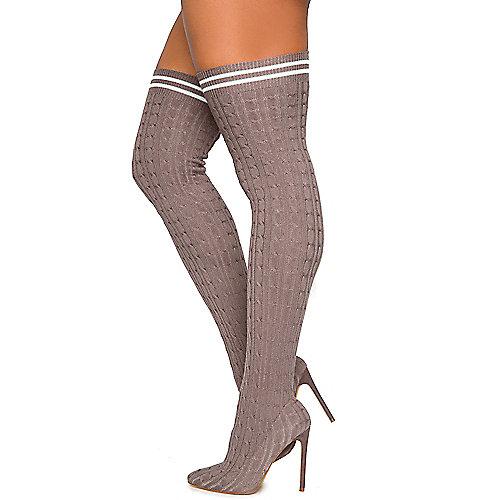 Women's Xaya-10 Thigh-High High Heel Boot | Shiekh Shoes