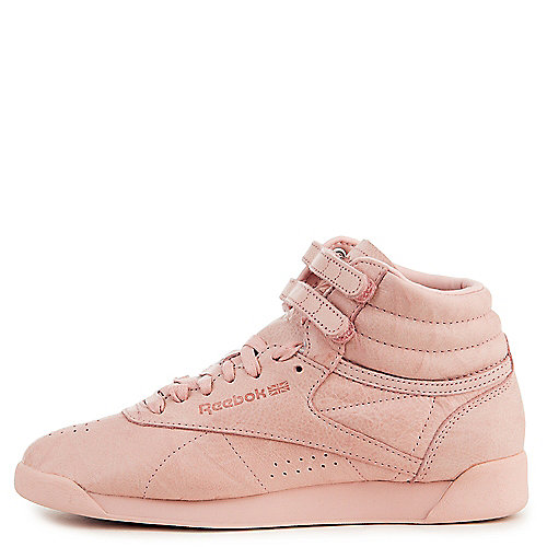 e1d30b9758c Reebok POLISH PINK Women s Freestyle Hi FBT Sneaker
