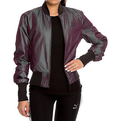 bdb80889829d Puma plum iridsnt Women s Iridescent Bomber Jacket