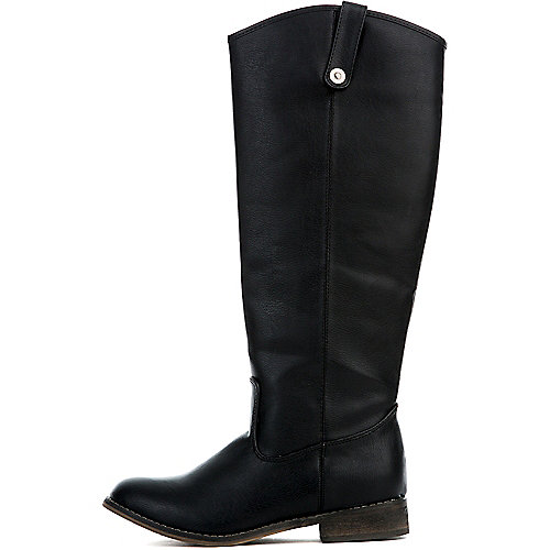 BLACK Women's Rider-18 Boot at Shiekh Shoes in Los Angeles, CA | Tuggl