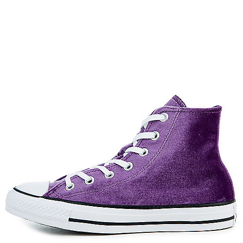 9820bed6865458 Converse night purple white white Women s Chuck Taylor All Star Velvet Hi  Sneaker