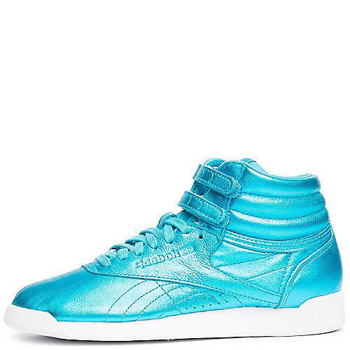 0505d378de6 Reebok FEATHER BLUE WHITE Women s F S Hi Metallic Sneaker