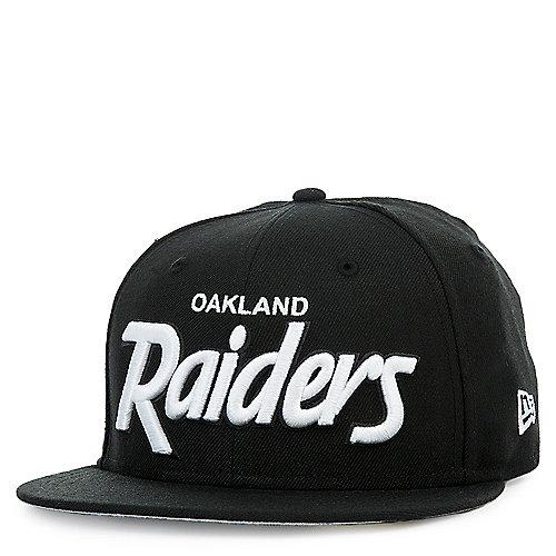 Oakland Raiders Black Script Cap  88db23de0f6