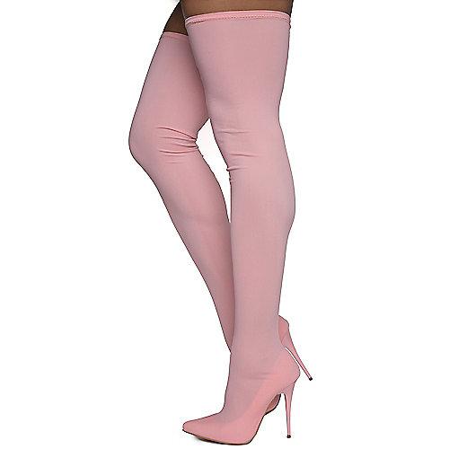 0c152e477d3 Pink Women s Amelie Thigh-High Boots