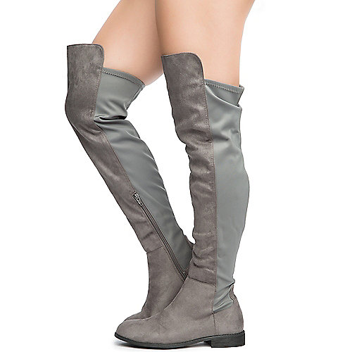 e9e3fea0b04 Dark Grey Women s Oksana-132 Flat Boot
