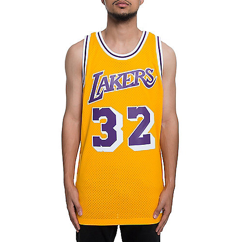 Mitchell and Ness Gold Men s Lakers Magic Johnson Jersey c33507e67e