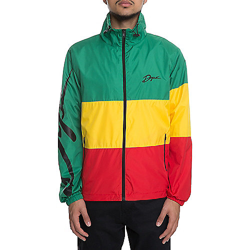 Green Men's Wavey Windbreaker | Tuggl