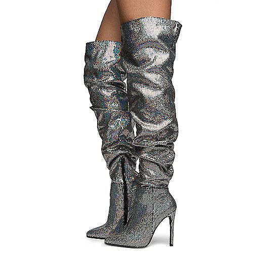 09f853264fc Silver Women s Jenna Thigh High Boots