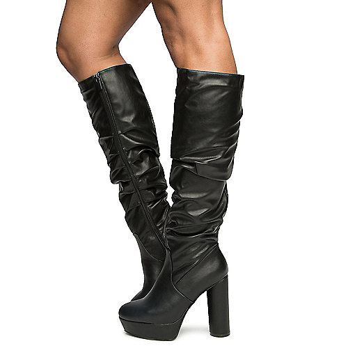 BLACK Women's Goodvibes-08 Boots at Shiekh Shoes in Los Angeles, CA | Tuggl