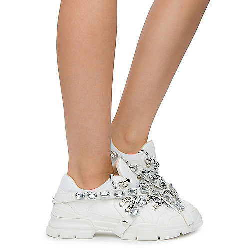 775ca369d848 Chase   Chloe WHITE PU Women s Spice-2 Sneakers