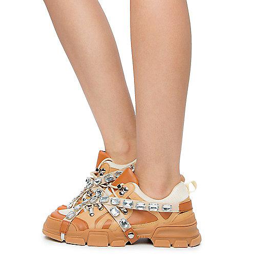 36c0597e8070 Chase   Chloe nude pu Women s Spice-2 Sneakers