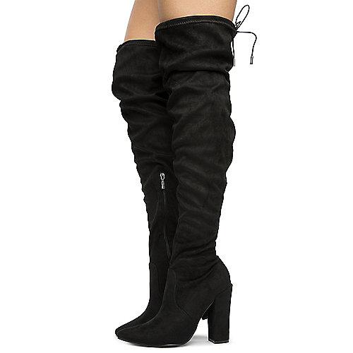 575d5c8a1673 BLACK Women s Annika-15 Over The Knee Boots