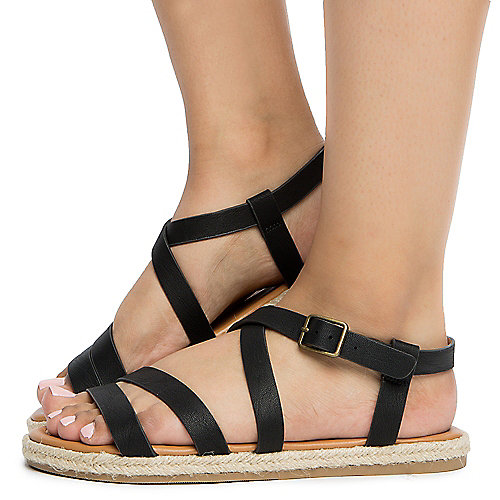 03be87bc3f8a BLACK Women s Strappy Sandal