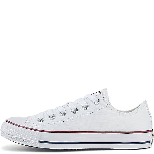 Converse Mens All Star Lo White Casual Lace Up Sneakers