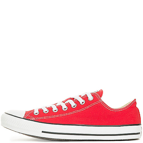 Converse Mens All Star Lo red lace up casual sneaker