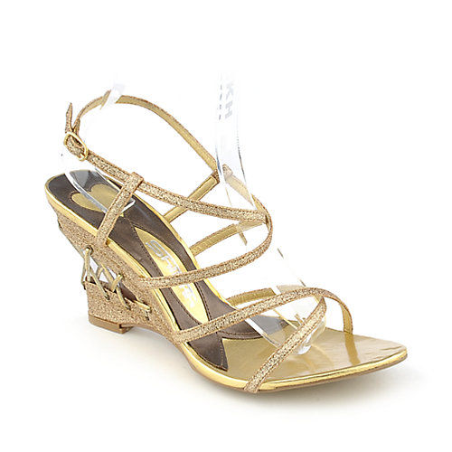 Shiekh Peris-22 womens glitter slingback wedge