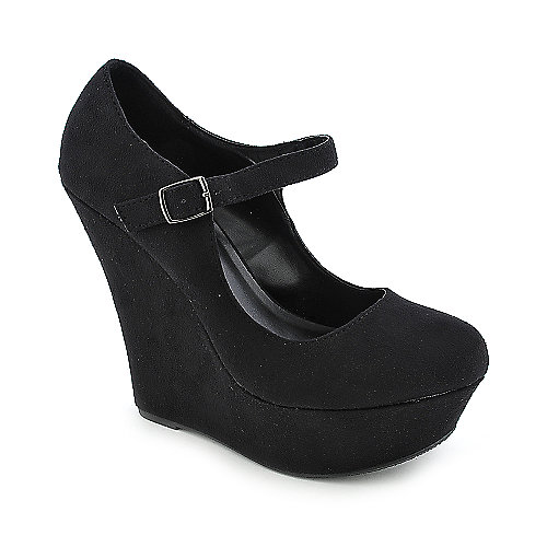 Shiekh Kayla-S black wedge shoes at shiekhshoes.com