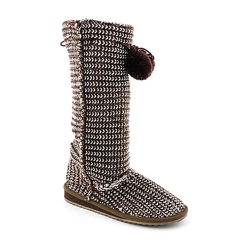 Groove Rejoice-02 womens flat mid-calf knit boot