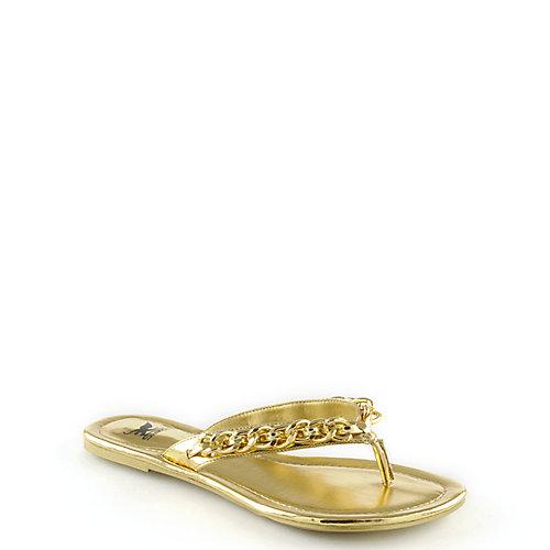 9d0ff5367b523 Shiekh Gold Women s Maui-02 Chain Thong Sandal