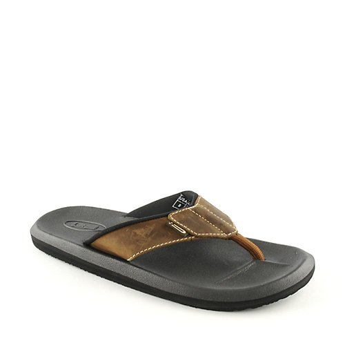 Sanuk Mens Lazy Boy Leather