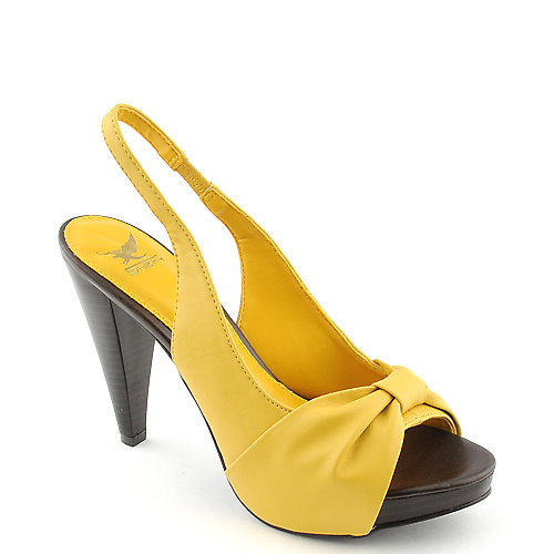shiekh finella 75 womens yellow dress shoe