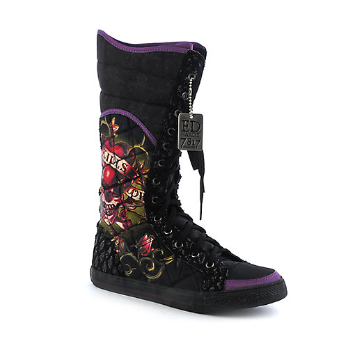Ed Hardy Love Kills Slowly flat boot