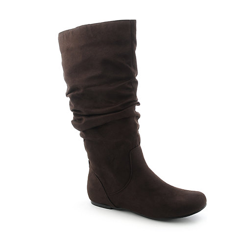 Wild Diva Brown Women's Mid-Calf Boots Kalisa-04