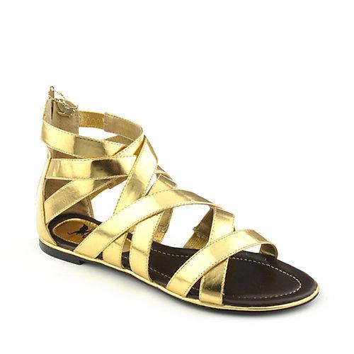 3436bccc392 Shiekh Haidi Women s Gold Gladiator Sandal