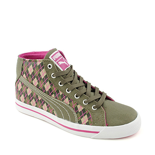 Puma Womens Roader Hi green lace up casual sneaker