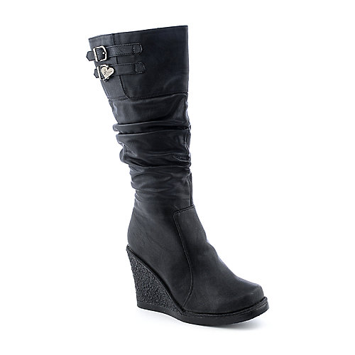 Shiekh Lute-SA womens knee-high wedge boots