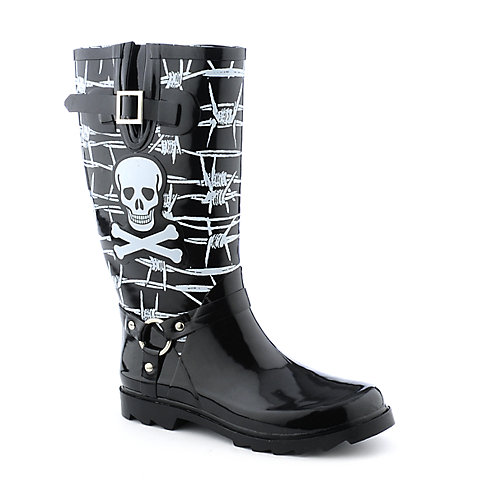 Nature Breeze Skull Rain Boots at shiekhshoes.com
