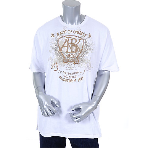 Akoo Mens White Solidity Tee