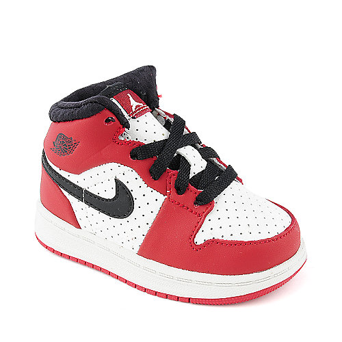 meet 83116 b1d9d WHT BLK-RED Toddler Air Jordan Alpha 1 (TD)
