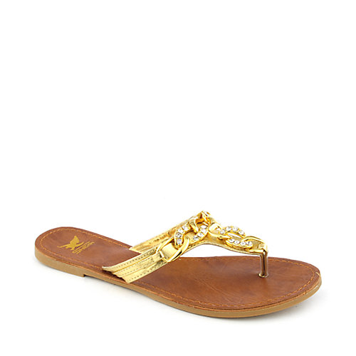 Shiekh Mimi-07 womens flat jeweled thong sandals