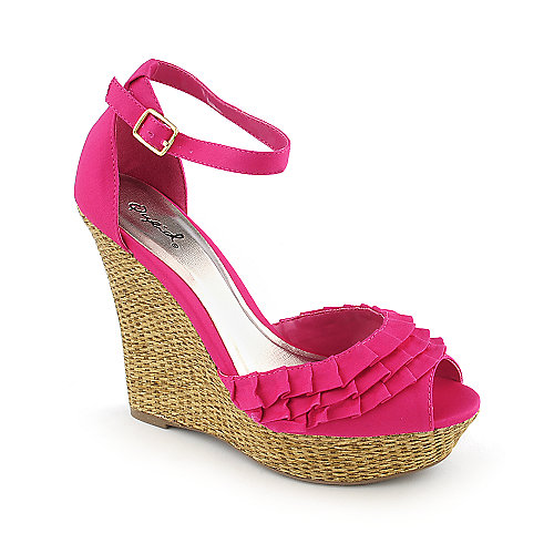 Qupid Bikini-07 casual espadrille wedge