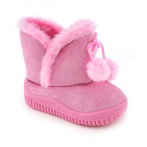 Shiekh Infant SW10-213 pink mid calf fur flat boot