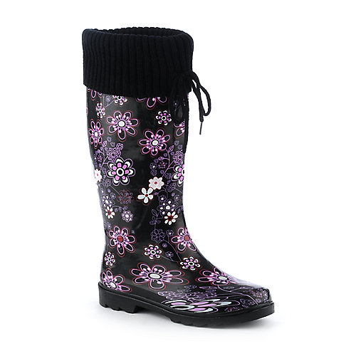 Nature Breeze Knit Cuff Rain Boot
