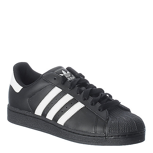 Adidas Superstar 2 black athletic basketball sneaker