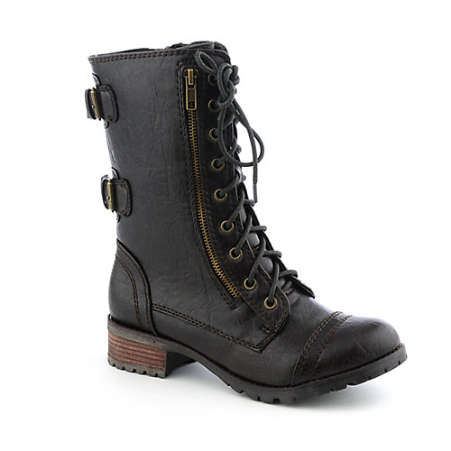 Soda Women's Combat Boot Dome-H