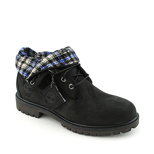 Timberland Mens Roll Top black casual boots