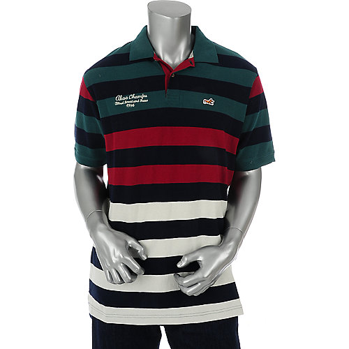 Akoo Dweller Pique Stripe Polo at shiekhshoes.com